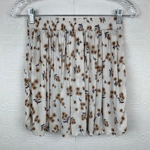 Brandy Melville Floral Skirt One Size Pull On A344